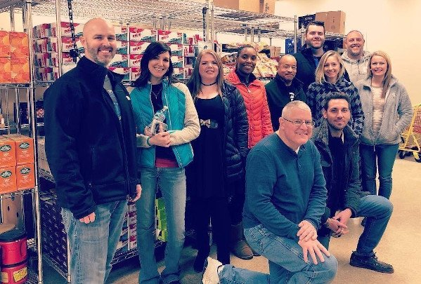 Heritage team at food bank