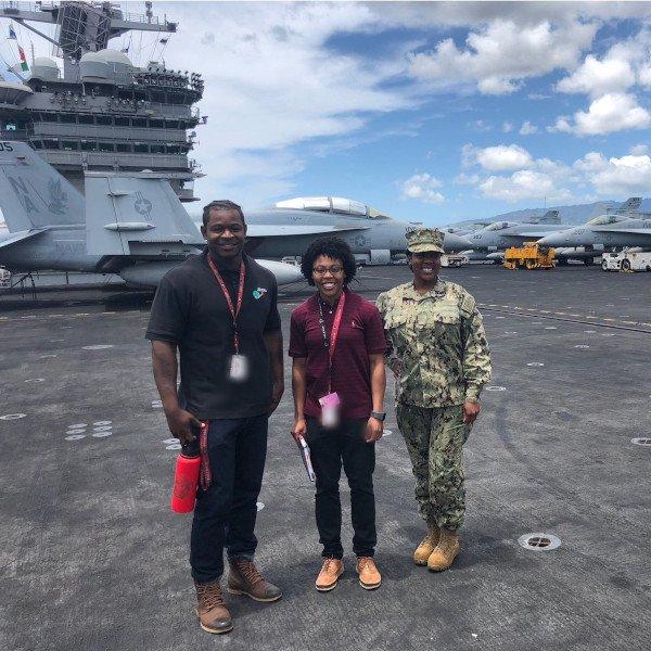 Vectrus on an aircraft carrier sq